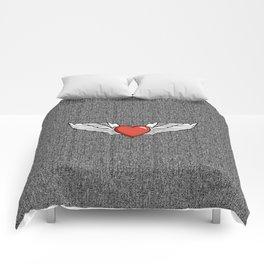 Winged Heart Comforters