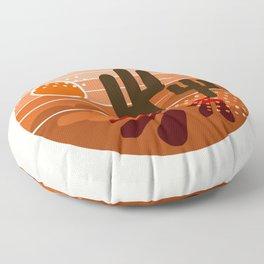 Mightyfine - 70s retro throwback desert southwest socal cali 1970's vibes art Floor Pillow