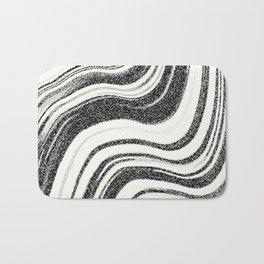 Textured Marble - Black & White Bath Mat