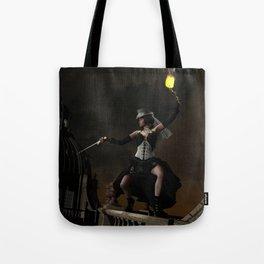 Steam Punk - Dragon Duel Tote Bag
