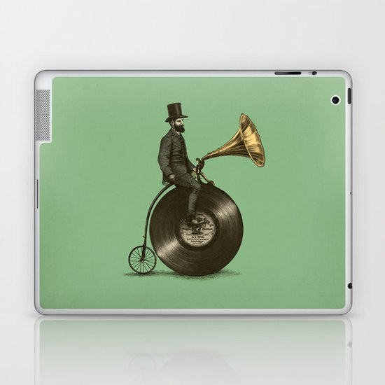 Music Man (Green Option) Laptop & iPad Skin