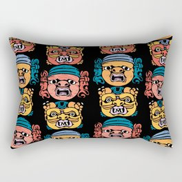 baroque masks from ACIREALE by Laura Pizzicalaluna  Rectangular Pillow