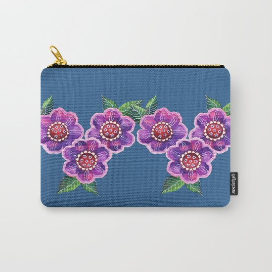 Purple Flowers I Carry-All Pouch