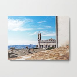 Beautiful view in the medieval center of Gubbio Metal Print