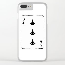 3 of Fighter Aircraft Clear iPhone Case