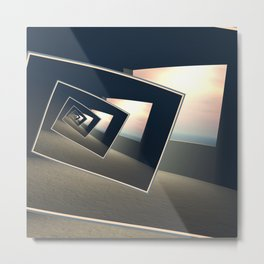 Surreal Windows Metal Print