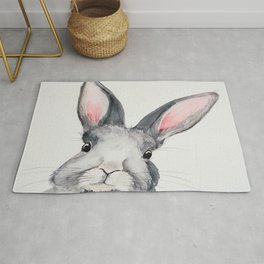 Gray Bunny, Nursery, Easter, Rabbit, Animal, Cute Rug