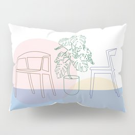 Plant and chairs Pillow Sham