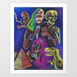 Rock and Roll in Space and Time Art Print