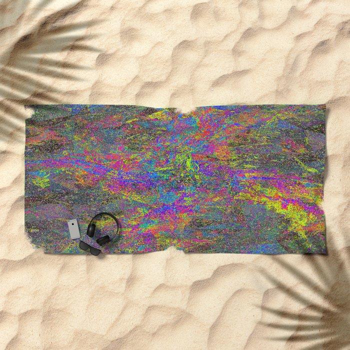 GLITCH Beach Towel