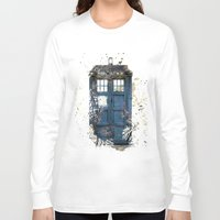tardis Long Sleeve T-shirts featuring Tardis by Zhavorsa
