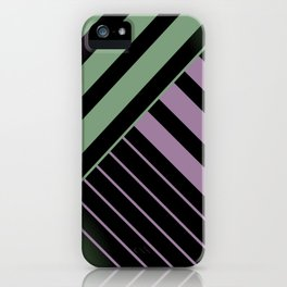 Diagonal Green and Violet iPhone Case