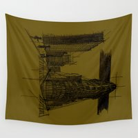 nyc Wall Tapestries featuring NYC by Mindssgreen