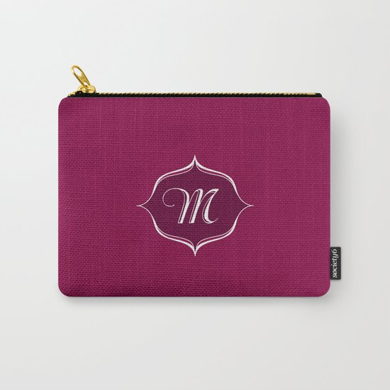 M Monogram Burgundy Carry-All Pouch