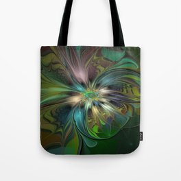 Colorful Abstract Fractal Art Tote Bag