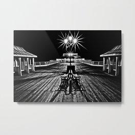 Cromer Pier at Night Metal Print