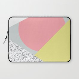 80's Retro Pattern in Yellow and Pink Laptop Sleeve