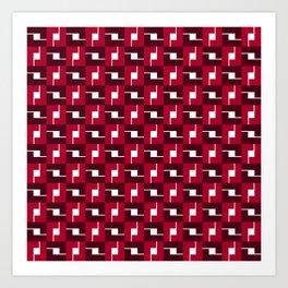 Geometric Pattern #257 (red boxes) Art Print
