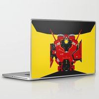 pacific rim Laptop & iPad Skins featuring Pacific Rim - Crimson Typhoon - Minimal Poster by John Takacs