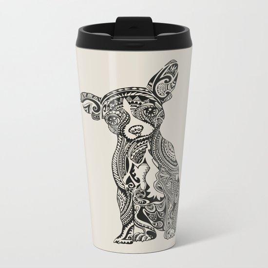Polynesian Chihuahua Metal Travel Mug