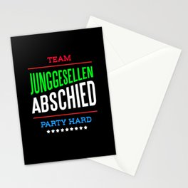 Team Bachelor Party Hard Stationery Cards
