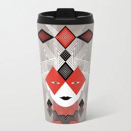 The Queen of diamonds Metal Travel Mug