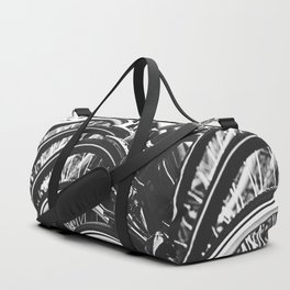 Bicycles, Bikes in Black and White Photography Duffle Bag