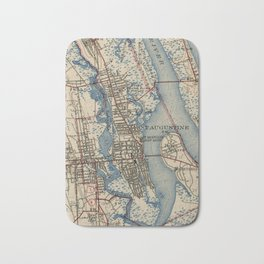 Vintage Map of St. Augustine Florida (1937) Bath Mat