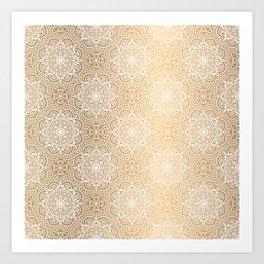 Gold Mandala 18 Art Print