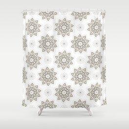 WOLF (white) Skull Pattern Series Shower Curtain