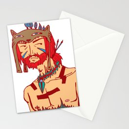 Tribal Man Stationery Cards