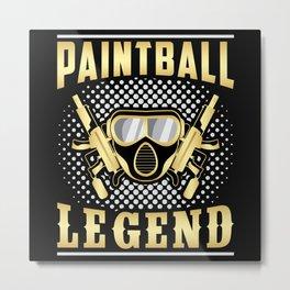 Paintball Airsoft Shoot Gotcha Painter Gift Idea Metal Print