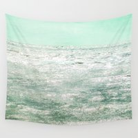 shining Wall Tapestries featuring The Shining Sea by Bella Blue Photography