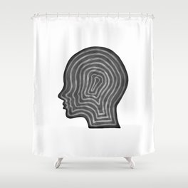 Abstract head profile Shower Curtain
