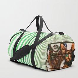 Market cat Duffle Bag