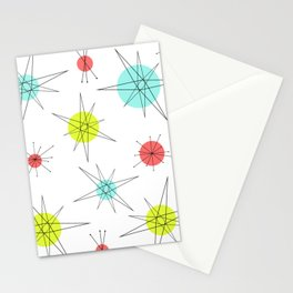 Atomic Age Colorful Planets Stationery Cards
