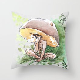 Empire of Mushrooms: Boletus Edulis Throw Pillow