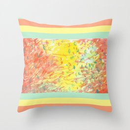 Falling Leaves in Sunlight Watercolour Throw Pillow
