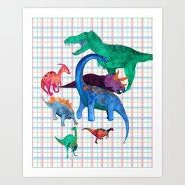 Triassic Plaid Art Print
