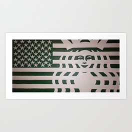 Coffee Americano: The 99 Banners Collection By Wesley Bennett And Four Horses And Six Guns Art Print