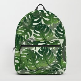 Exotic Palm Leaf Pattern Backpack