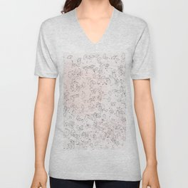 Dandelion field. Abstract pattern Unisex V-Neck