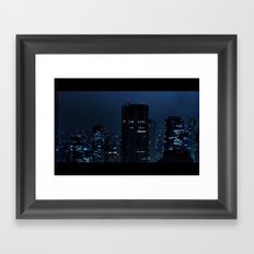 Lost in Translation - Tokyo Blues Framed Art Print