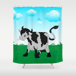 Cow on a meadow Shower Curtain