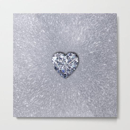 Diamond Love Metal Print