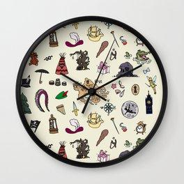Peter Pan pattern Wall Clock