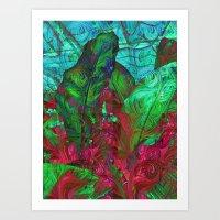 Leaves Abstract No.2 Art Print