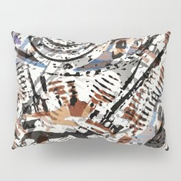 Reverse Abstract V-Twin Pillow Sham