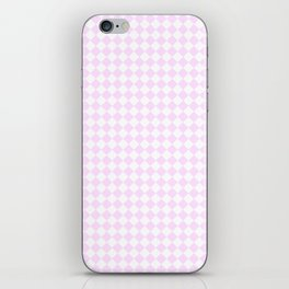 Small Diamonds - White and Pastel Violet iPhone Skin