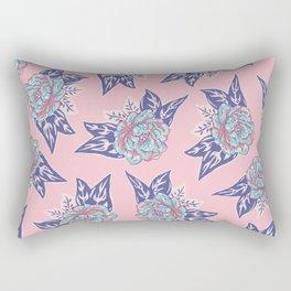 Cabbage Rose Tattoo Flash Rectangular Pillow